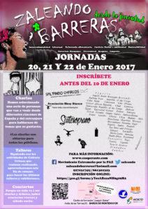 JORNADAS ZALEANDO BARRERAS DESDE LA JUVENTUD 20, 21 Y 22 DE ENERO