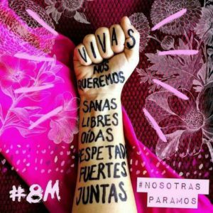 #MujeresEnHuelga #8M #NiUnaMenos #zaleandobarrerasdegénero #nosotrasparamos
