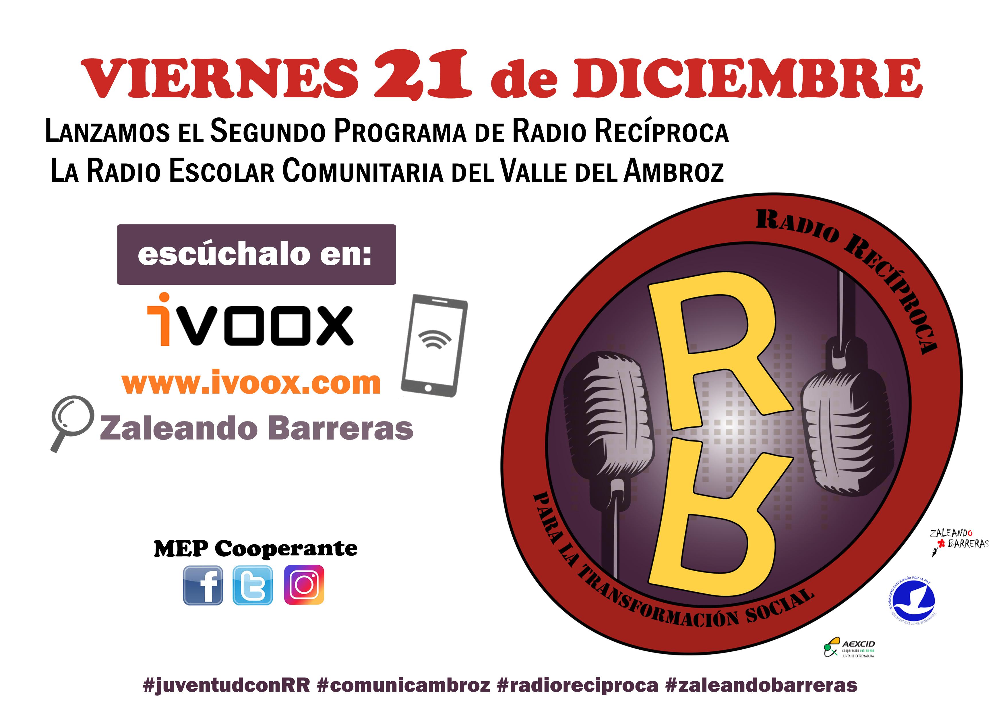 2º PROGRAMA de RADIO RECÍPROCA  Viernes 21 de Diciembre